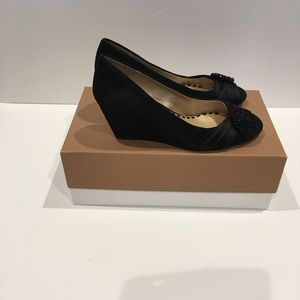 Like New Alex Marie black suede wedge size 7.5 M